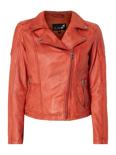 Lederjacke im Biker-Look Orange - 1