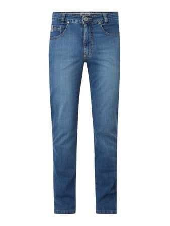 JOKER Tapered Fit Jeans mit Stretch-Anteil Modell 'Nuevo' Blau - 1