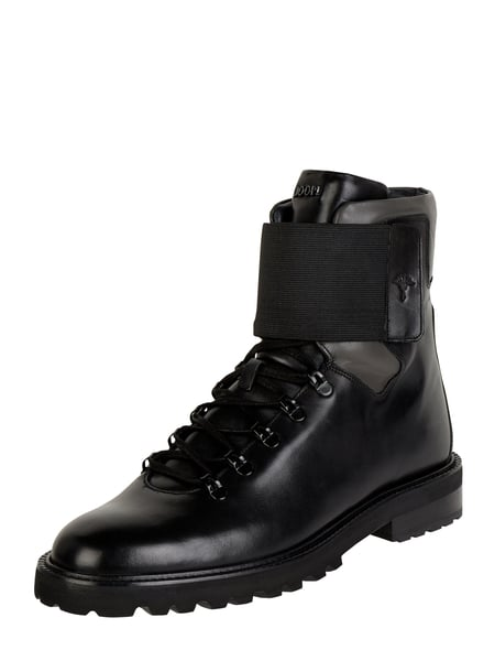 JOOP! Collection Boots aus Leder Modell 'Mario' Schwarz - 1