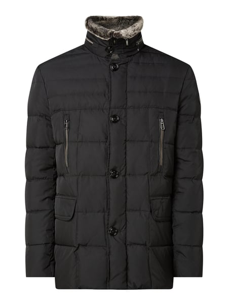 JOOP! Collection Daunenjacke mit Webpelz Schwarz - 1