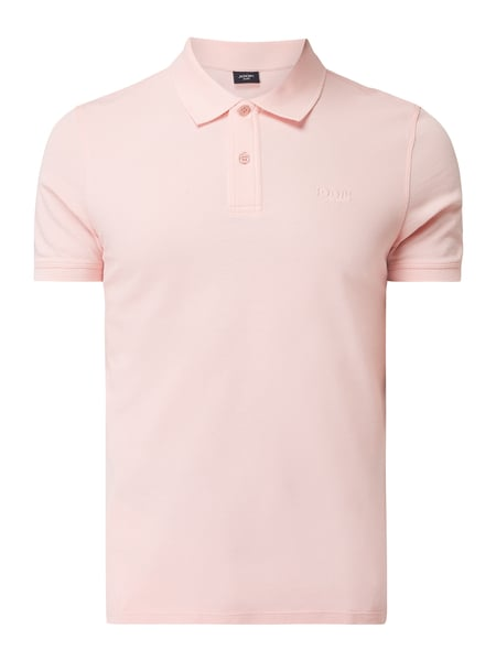 JOOP! Collection Poloshirt mit Logo-Stickerei auf Brusthöhe Rosa - 1