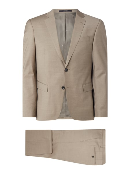 JOOP! Collection Slim Fit Anzug aus Woll-Elasthan-Mix Modell 'Herby-Blayr' Beige - 1