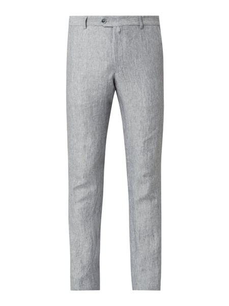 JOOP! Collection Slim Fit Anzughose aus Leinen Modell 'Hank' Silber - 1