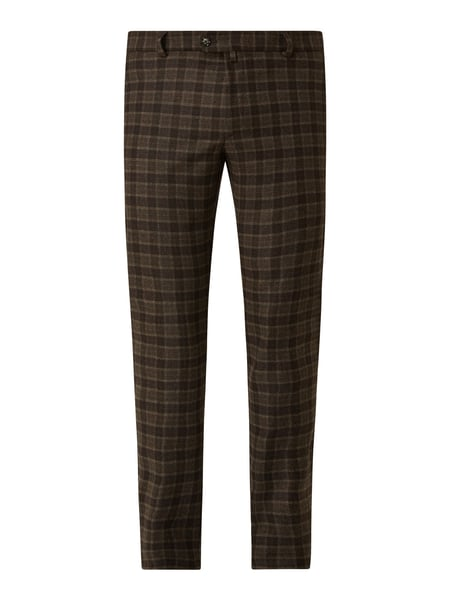 JOOP! Collection Slim Fit Hose mit Karomuster Modell 'Hank' Braun - 1
