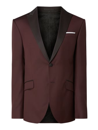 JOOP! Collection Slim Fit Smokingjacke mit Spitzfasson Rot - 1