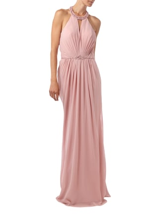Jora Collection Abendkleid aus Chiffon in Rosé - 1