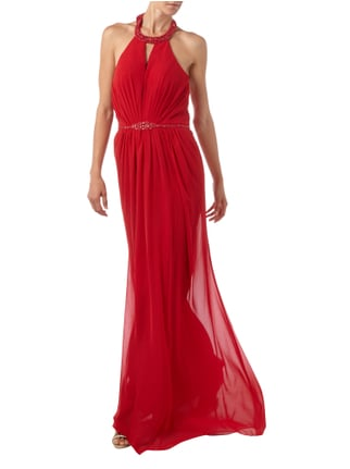 Jora Collection Abendkleid aus Chiffon in Rot - 1