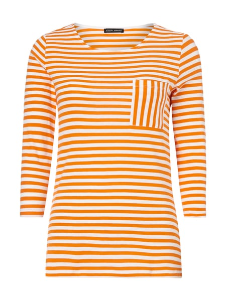 Shirt mit Streifenmuster Orange - 1