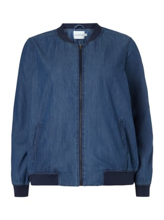 PLUS SIZE - Bomber in Denimoptik Blau / Türkis - 1