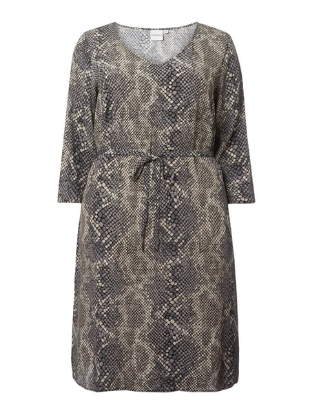 Junarose PLUS SIZE Kleid aus Viskose in Snake-Optik Grau - 1