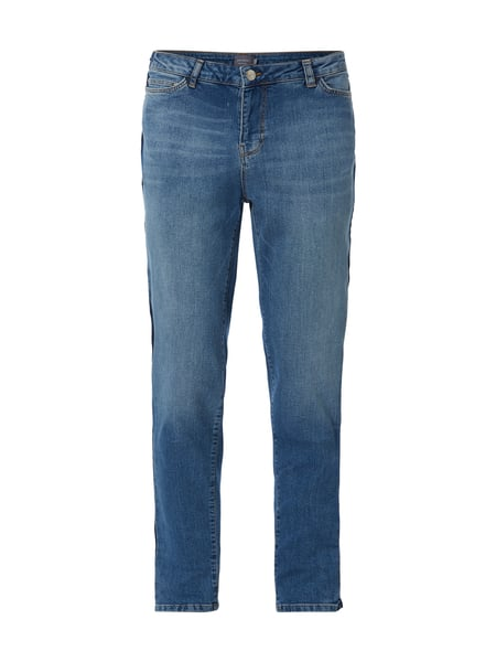 Junarose PLUS SIZE - Stone Washed Slim Fit Jeans Blau - 1