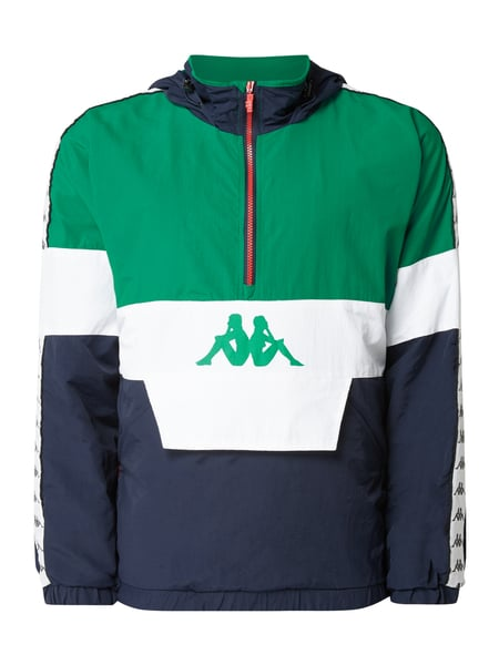 Kappa Trainingsjacke in Schlupfform mit Kapuze Grün - 1