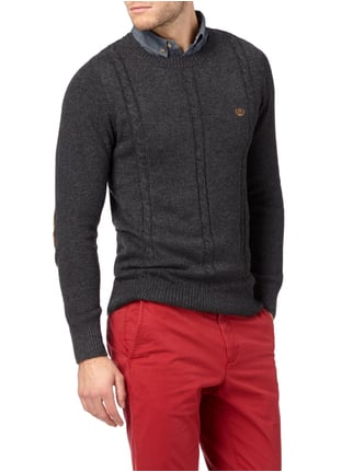 Key Largo Pullover im 2-in-1-Look Anthrazit meliert - 1