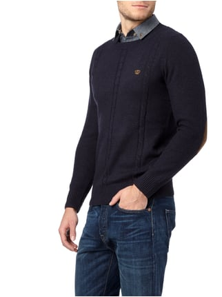 Key Largo Pullover im 2-in-1-Look Marineblau meliert - 1