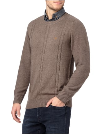 Key Largo Pullover im 2-in-1-Look Mittelbraun meliert - 1