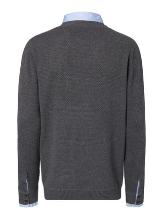 Key Largo Pullover im 2-in-1-Look Mittelgrau - 1