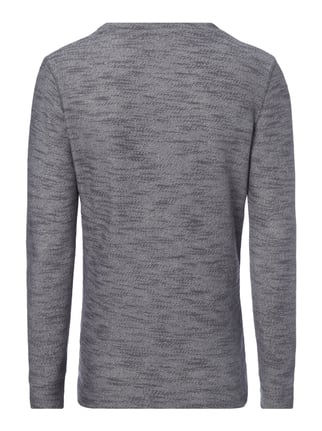 Key Largo Sweatshirt in Melangeoptik Anthrazit - 1