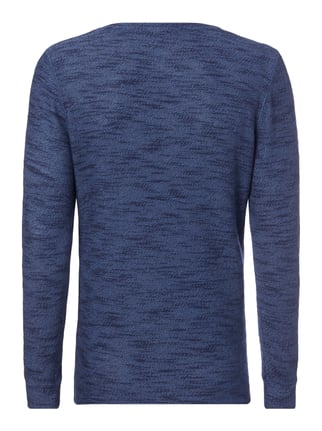 Key Largo Sweatshirt in Melangeoptik Dunkelblau - 1