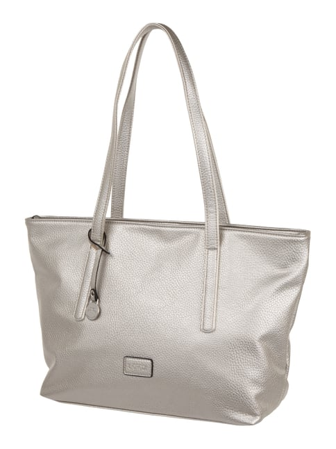 Shopper in Metallicoptik Grau / Schwarz - 1