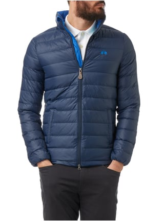 La Martina Light-Daunen Steppjacke mit Stehkragen Marineblau - 1
