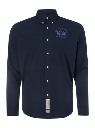 Regular Fit Freizeithemd mit Logo-Stickerei Blau / Türkis - 1