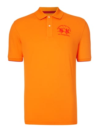 Regular Fit Poloshirt mit Logo-Stickerei Orange - 1