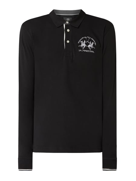 La Martina Regular Fit Poloshirt mit Logo-Stickerei Schwarz - 1
