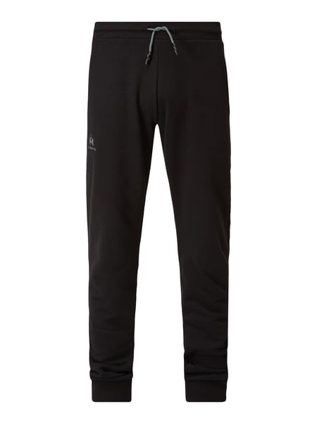 La Martina Sweatpants in lockerer Passform mit Logo-Print Schwarz - 1