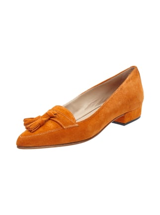 Loafer aus echtem Kalbsleder Orange - 1