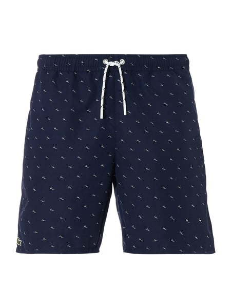 Lacoste Badeshorts mit Allover-Muster Blau / Türkis - 1