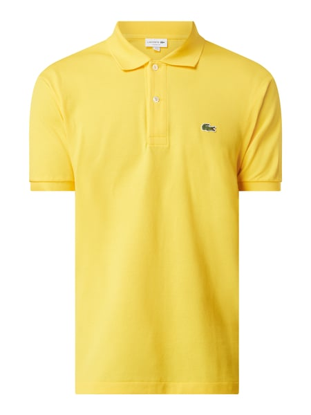 Lacoste Classic Fit Poloshirt aus Baumwolle Gelb - 1