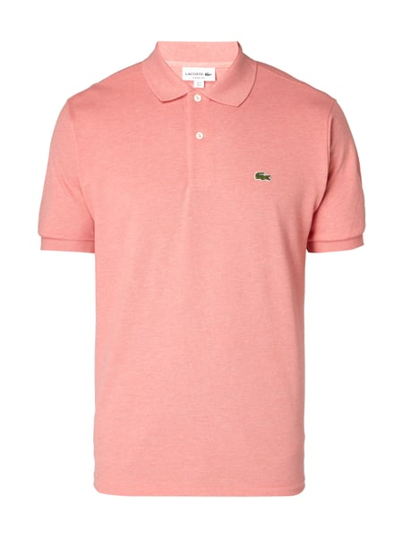 Lacoste Classic Fit Poloshirt mit Logo-Applikation Rosa meliert