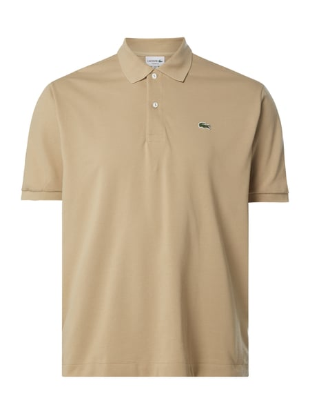 Lacoste Classic Fit Poloshirt mit Logo-Badge Beige - 1
