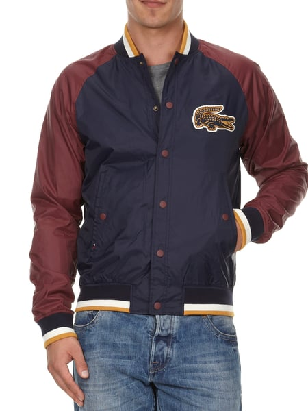 new product 77096 6ea38 LACOSTE-LIVE Collegejacke mit Logo-Aufnäher in Rot online ...