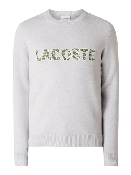 Lacoste Pullover mit Logo-Applikation Grau - 1