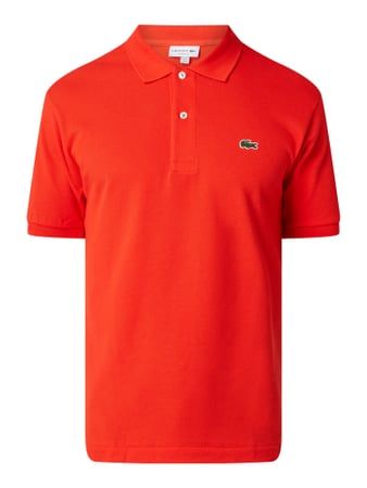 Lacoste Regular Fit Poloshirt aus reiner Baumwolle Orange - 1