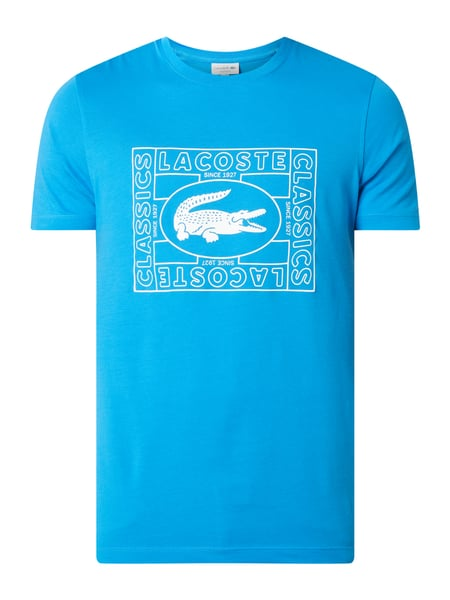 Lacoste Regular Fit T-Shirt mit Logo-Print Blau - 1