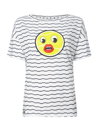 Shirt mit Tennisball-Emoticon Blau / Türkis - 1