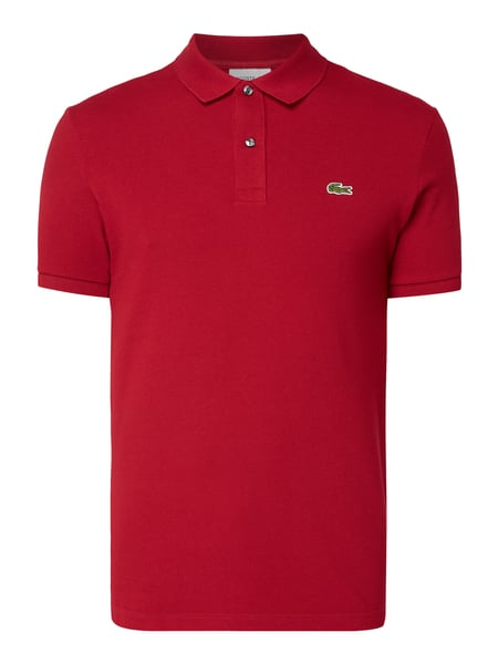 Lacoste Slim Fit Poloshirt mit Logo-Badge Rot - 1