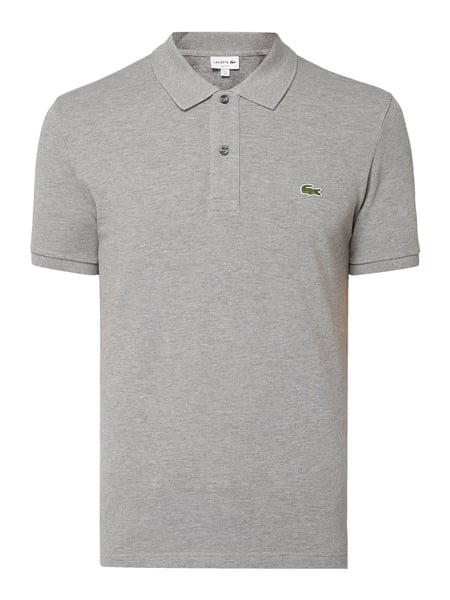 Lacoste Slim Fit Poloshirt mit Logo-Badge Grau - 1