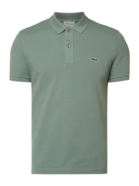 Lacoste Slim Fit Poloshirt mit Logo-Badge Grün - 1