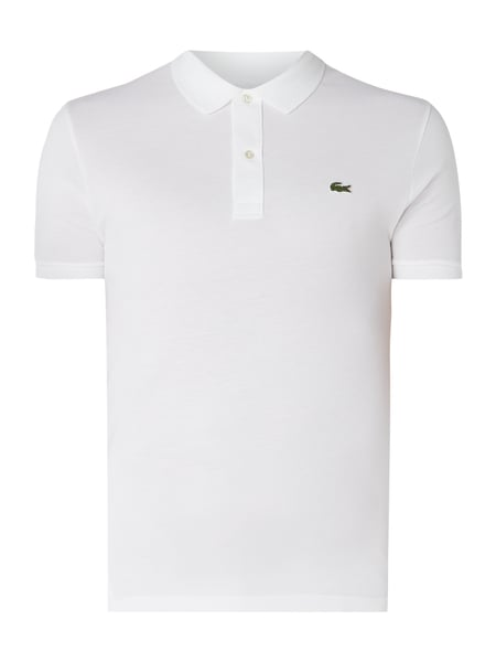 Lacoste Slim Fit Poloshirt mit Logo-Badge Weiß - 1
