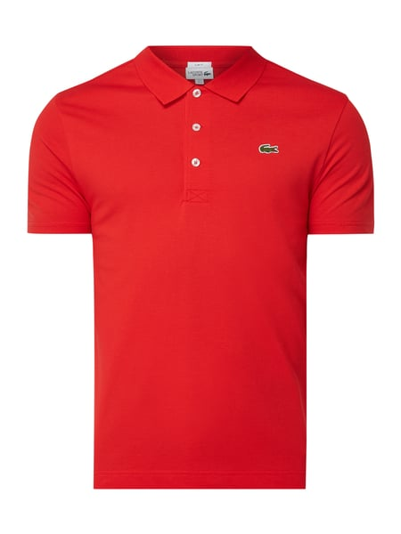 Lacoste Slim Fit Sport-Poloshirt mit Logo-Badge Rot - 1