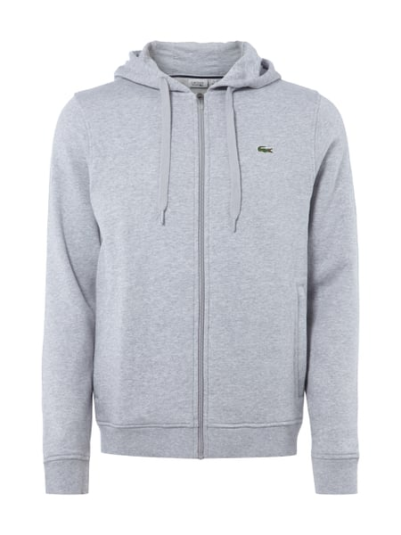 finest selection ae388 236b7 LACOSTE Sweatjacke mit Kapuze mit Tunnelzug in Grau ...