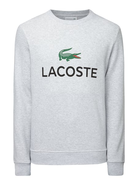lacoste sweatshirt mit gro em logo print in grau schwarz online kaufen 9733119 p c online. Black Bedroom Furniture Sets. Home Design Ideas