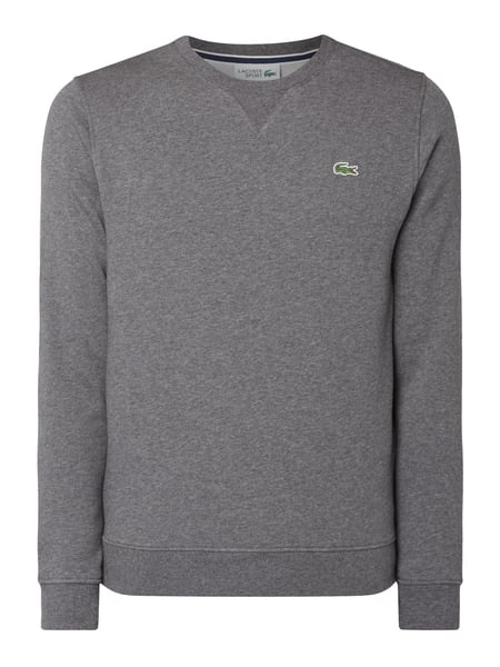 Lacoste Sweatshirt mit Logo-Badge Anthrazit