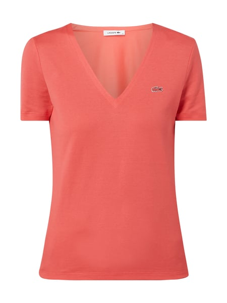 Lacoste T-Shirt mit Logo-Applikation Rosa - 1