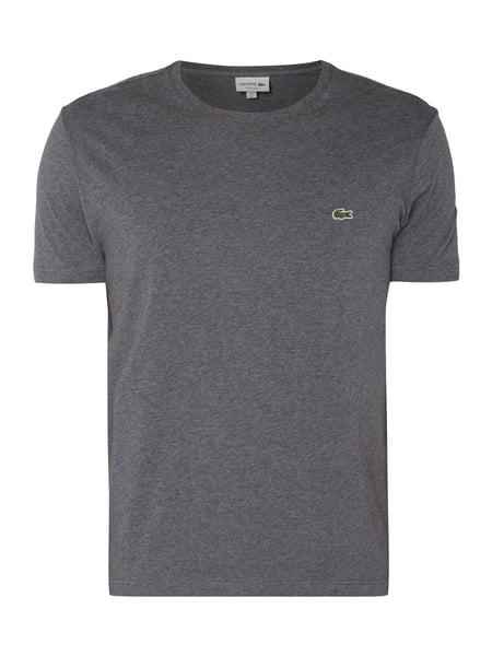 Lacoste T-Shirt mit Logo-Badge Anthrazit