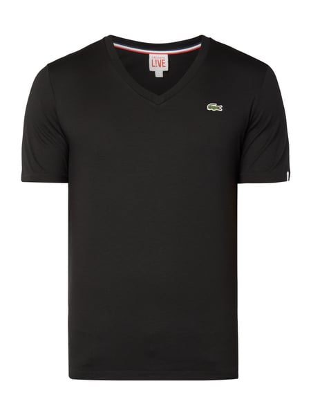Lacoste Ultraslim Fit T-Shirt mit Logo-Badge Schwarz