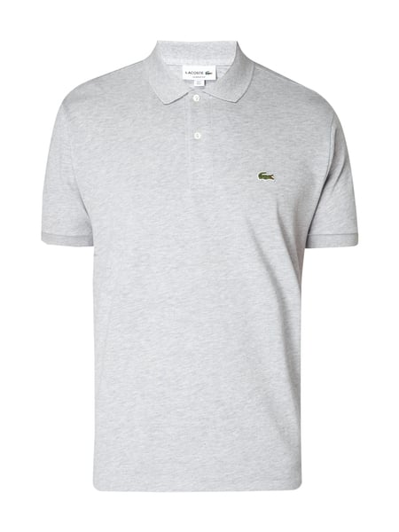 Lacoste Classic Fit Poloshirt mit Logo-Applikation Hellgrau meliert